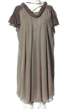 Silvian heach Robe chiffon gris clair-brun style classique
