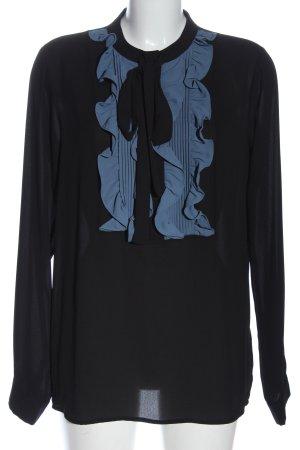Silvian heach Hemd-Bluse schwarz-blau Business-Look