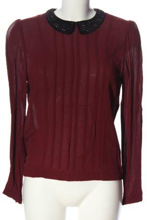 Silvian heach Blouse-chemisier rouge-noir élégant