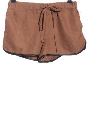 Silvian heach Short moulant brun-noir style décontracté