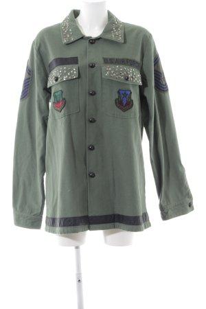Silvian heach Veste en jean multicolore style extravagant