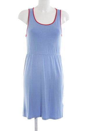 Silvian heach Jerseykleid blau-rot Casual-Look