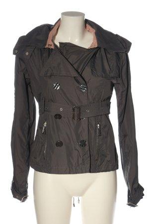 Silvian heach Veste à capuche gris clair-brun style décontracté