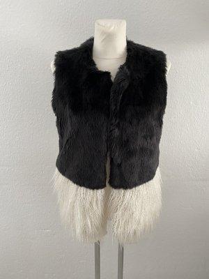 Silvian heach Kamizelka ze sztucznym futrem czarny-w kolorze białej wełny