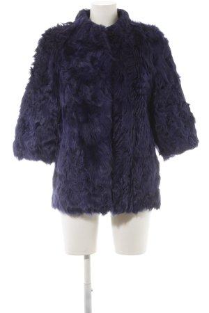 Silvian heach Fake Fur Jacket blue street-fashion look