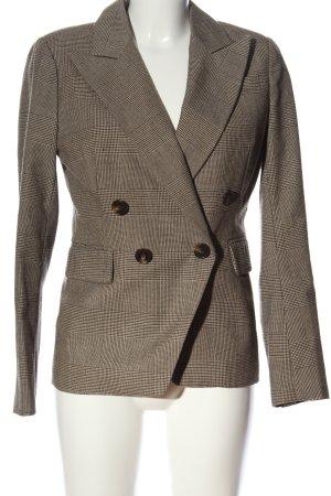 Silvian heach Blazer court brun-blanc style d'affaires