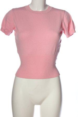 Silvian heach Blouse à manches courtes rose style décontracté