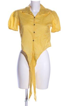 Silvian heach Blouse à manches courtes orange clair style décontracté