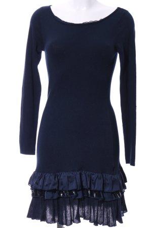 Silvian heach Langarmkleid blau Casual-Look