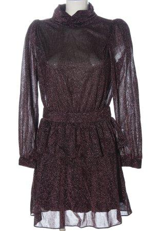 Silvian heach Sukienka z długim rękawem różowy-czarny Melanżowy Elegancki