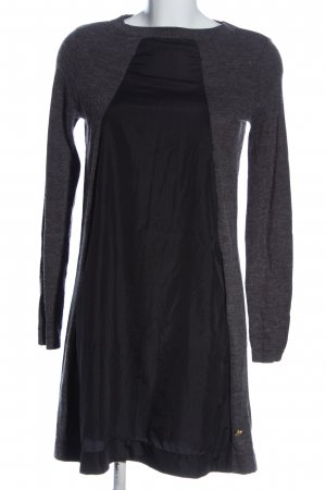 Silvian heach Robe à manches longues gris clair-noir moucheté
