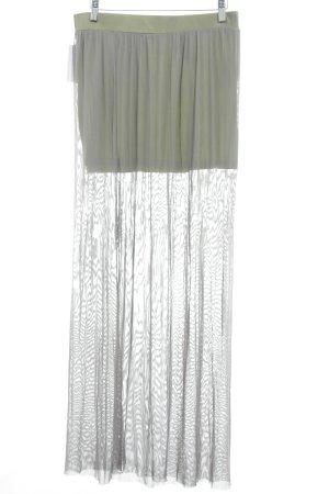 Silvian heach Falda larga gris look casual