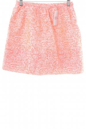 Silvian heach Mini-jupe blanc cassé-rose fluo motif abstrait