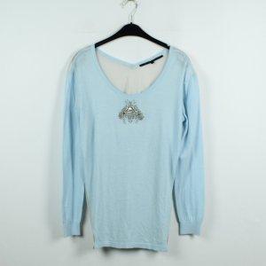 Silvian Heach Pullover Gr. M blau transparenter Rücken (19/11/459)