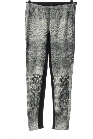 Silvian heach Drainpipe Trousers white-black abstract pattern casual look