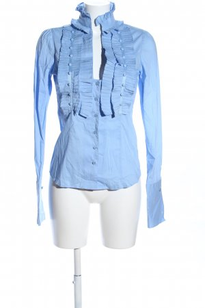 Silvian heach Rüschen-Bluse blau Casual-Look