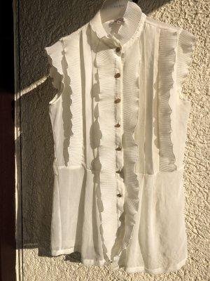 Silvian heach Blouse à manches courtes crème-blanc cassé