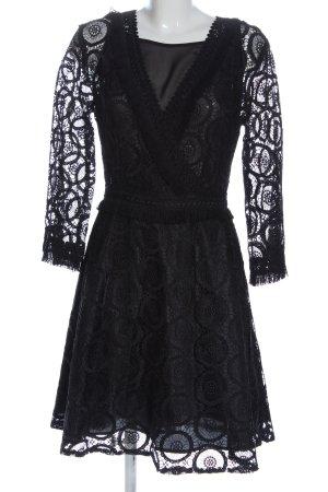 Silvian heach Robe en dentelle noir élégant