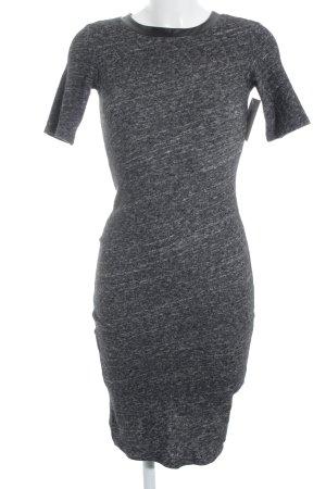 Silvian heach Robe en maille tricotées gris-noir style décontracté