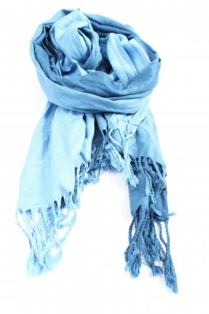 SIlvio Tossi Fransenschal blau Casual-Look