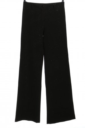Sim Pantalon Marlene noir moucheté style décontracté