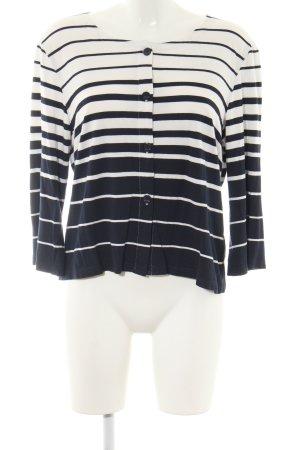 Simclan Cardigan weiß-schwarz Streifenmuster Casual-Look