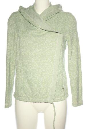 Simclan Veste chemise gris clair-kaki imprimé allover style décontracté