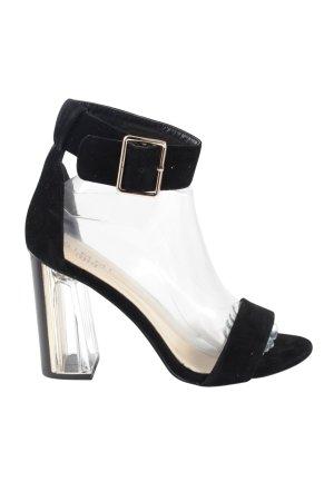 SIMMI High Heel Sandaletten schwarz Elegant