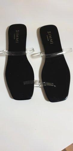 Simmi Shoes Sandaletten Sandale Zehentreter Gr. 39 schwarz Lack