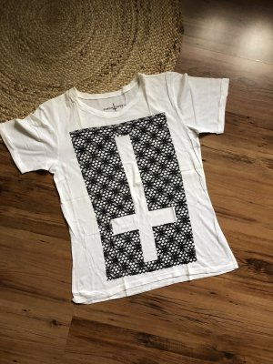 Oversized Shirt white-black