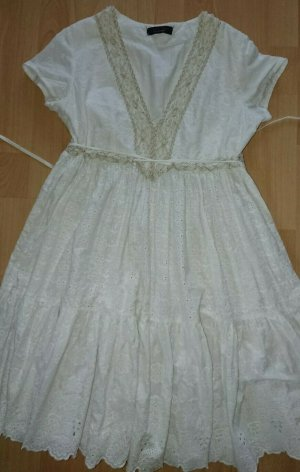 Simona Barbieri, Twin Set, Kleid, Gr. M,Weiss, Perlen