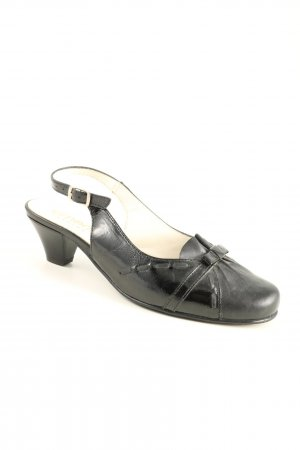 simona fashion Slingback-Pumps schwarz Business-Look
