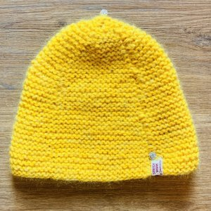 Knitted Hat yellow-silver-colored