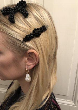 Simone Rocha Haar Schleife Hair Clip schwarz Black Kristalle