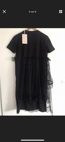 Simone Rocha x H&M Sukienka o kroju koszulki czarny Bawełna