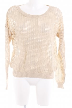 Simple City Strickshirt goldfarben Transparenz-Optik