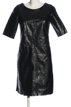 Simple Shortsleeve Dress black wet-look