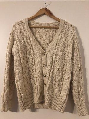 Simple Retro Jersey de lana blanco puro