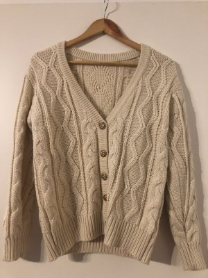 Simple Retro Wool Sweater natural white