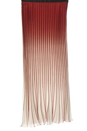 Simple Retro Falda plisada rojo-blanco degradado de color look casual