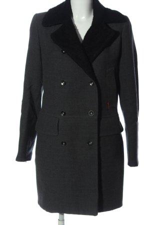 Simple Winter Coat light grey-black flecked casual look