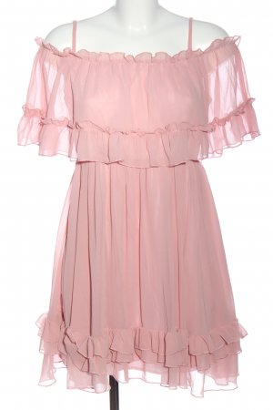 Simplee Chiffonkleid pink Party-Look