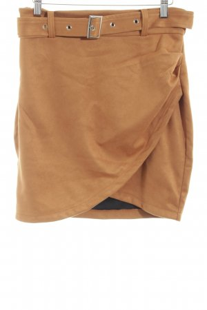 Simplee High Waist Rock braun Casual-Look