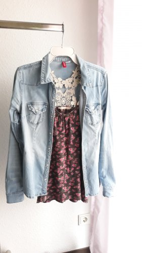 H&M Camisa vaquera azul claro-azul Algodón