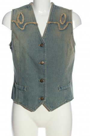 Simply the best Gilet en jean bleu style décontracté