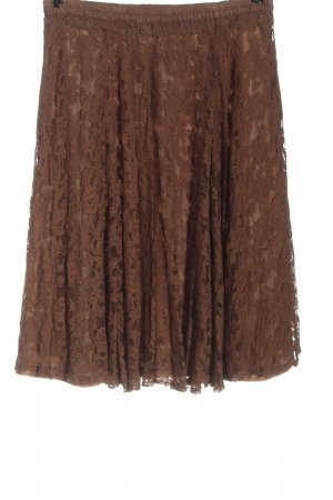 Simply the best Lace Skirt brown casual look