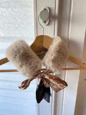 Sciarpa lavorata a maglia beige-beige chiaro