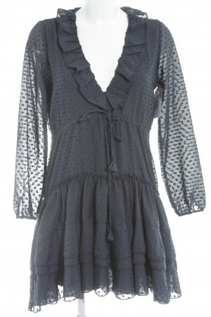 Sincerely Jules Blusenkleid dunkelblau abstraktes Muster Boho-Look