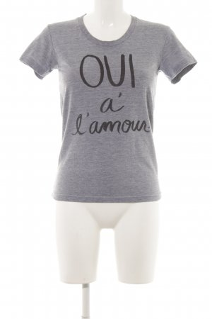 Sincerely Jules T-Shirt grau Motivdruck Casual-Look