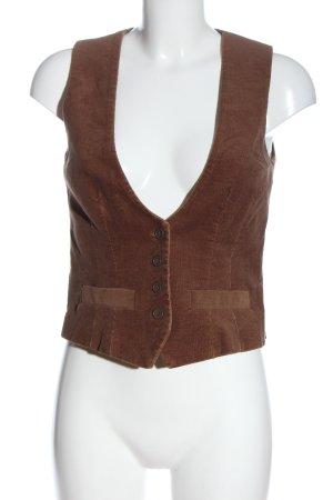 Sinéquanone Chaleco de vestir marrón look casual